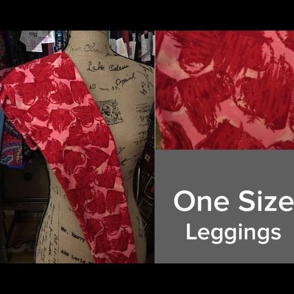 3cfa2e8ab907b6 LuLaRoe Pants | Valentine Leggings Os | Poshmark